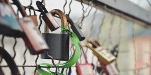 Secure locks on fence